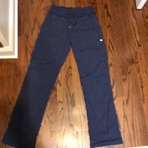 Lululemon lines pants Sz 4 blue womens dance gym